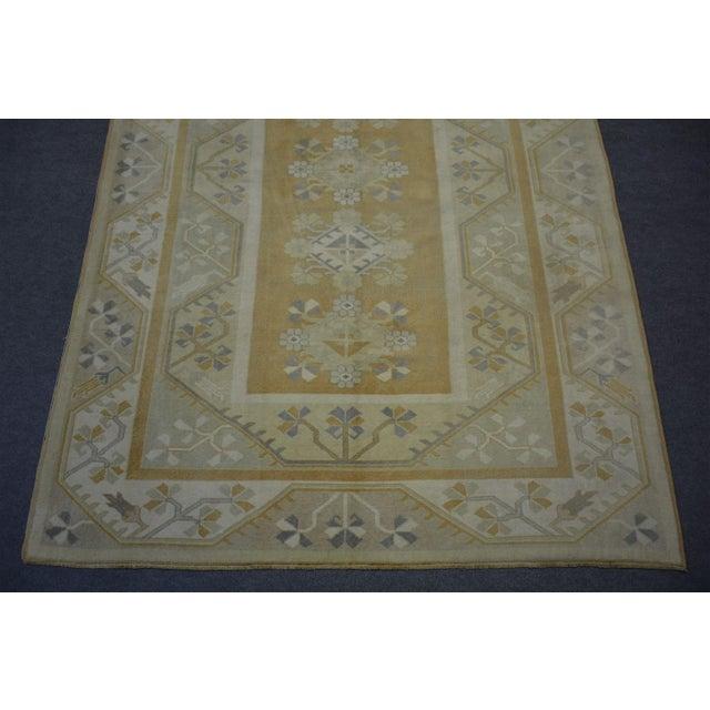 Islamic Vintage Turkish Rug - 6'6″x9'7″ For Sale - Image 3 of 7