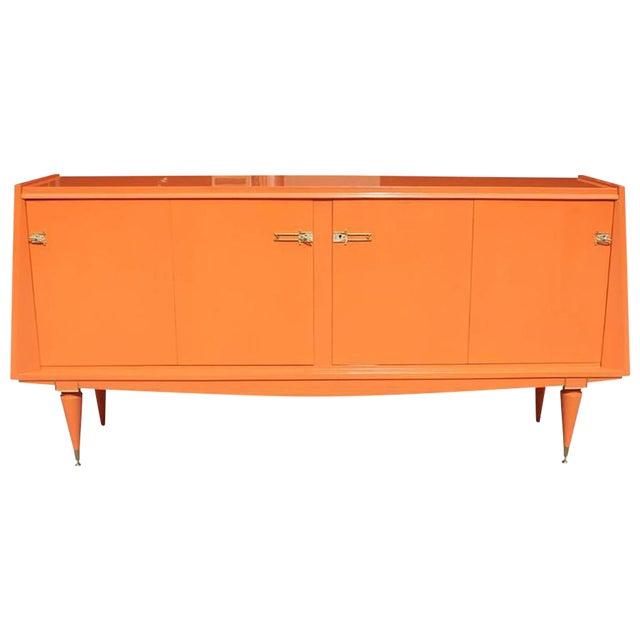 Art Deco Modern Orange Sideboard - Image 1 of 10