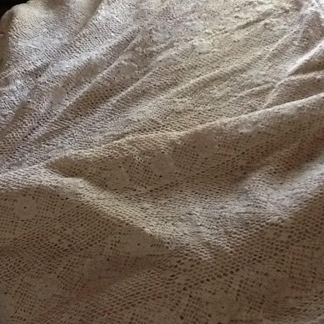 Vintage Boho Crocheted Coverlet or Tablecloth - Image 11 of 11