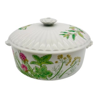 Vintage Herbs & Spices Shefford Covered Casserole Dish For Sale