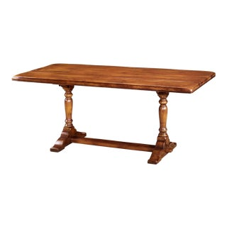 English Refectory Dining Table For Sale