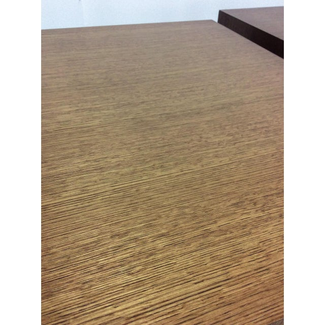 Modern Wood Side Tables - A Pair For Sale In Los Angeles - Image 6 of 7