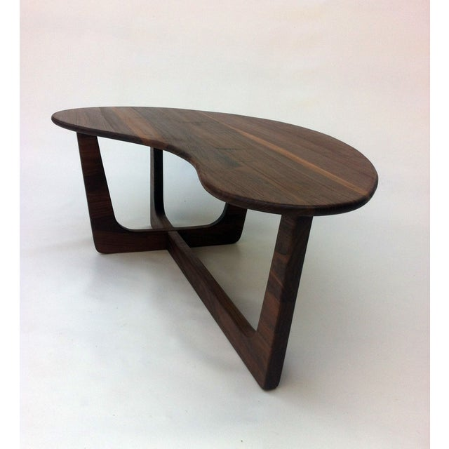 Pearsall Style Walnut Kidney Bean Cocktail Table - Image 6 of 6