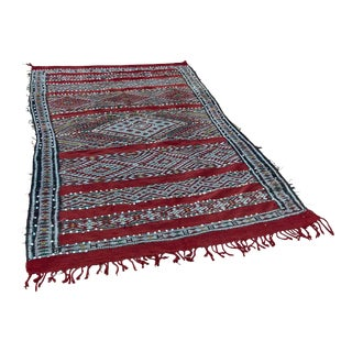1960s Moroccan Ethnic Rug with Sequins North Africa, Handira For Sale