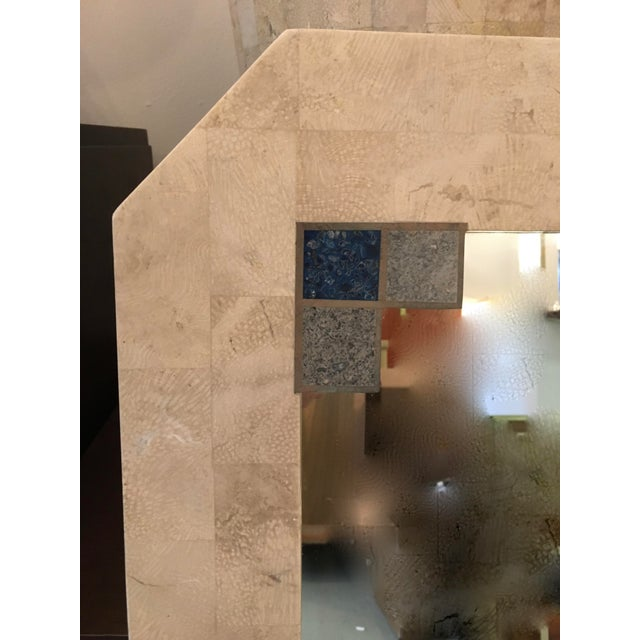 Mid-Century Tessellated Stone Mirror For Sale - Image 4 of 6