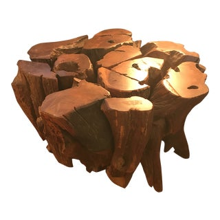 1960s African Style Teak Root Coffee Table