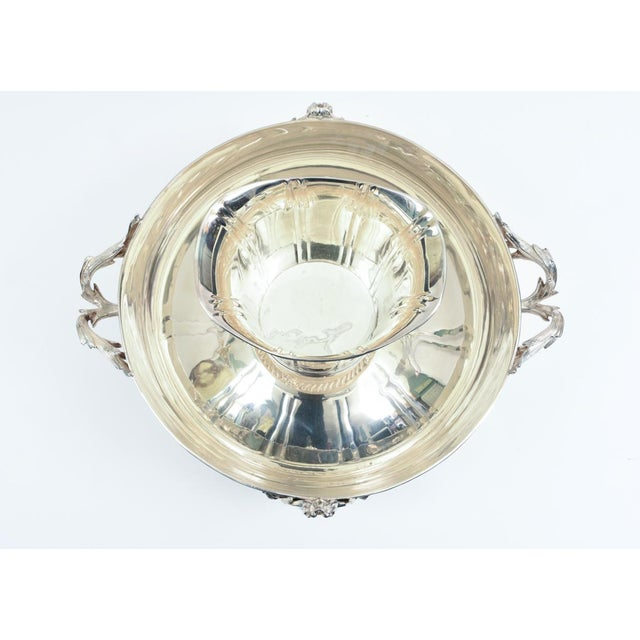 Metal Large English Sheffield Silver Plated Champagne Cooler With Ice Bucket For Sale - Image 7 of 13