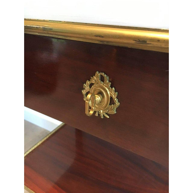Mahogany and Brass Console Table Attributed to Maison Jansen - Image 8 of 11
