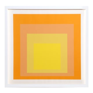Josef Albers - Homage to the Square (Yellow) Framed Silkscreen For Sale