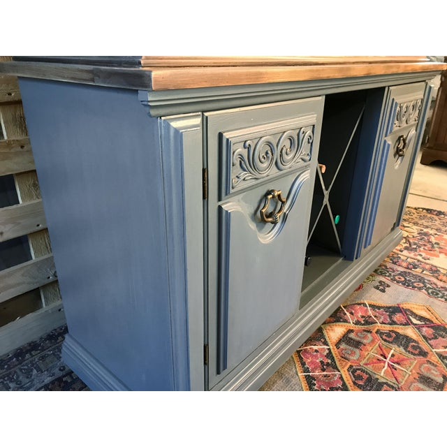 Gray Chalk Painted Wine Cabinet - Image 3 of 8