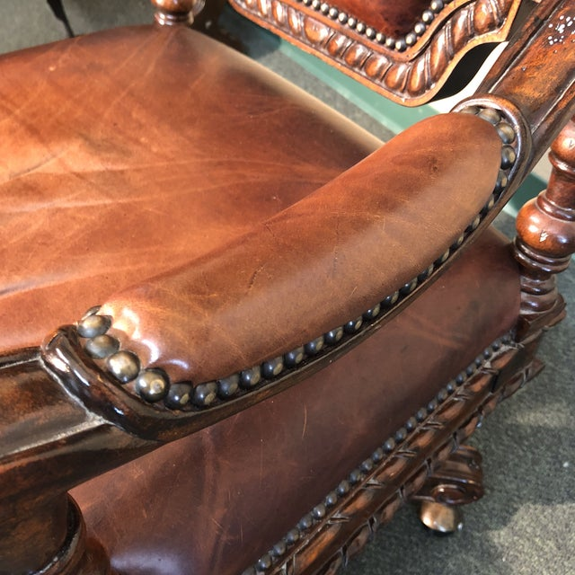2010s Maitland-Smith Lido Executive Chair For Sale - Image 5 of 11