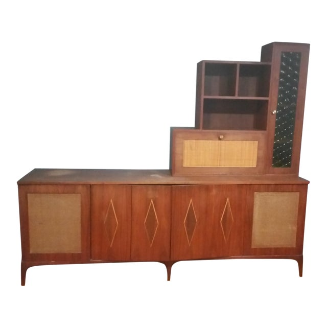 Mid-Century Modern Custom Made Credenza With Hutch - Image 1 of 6