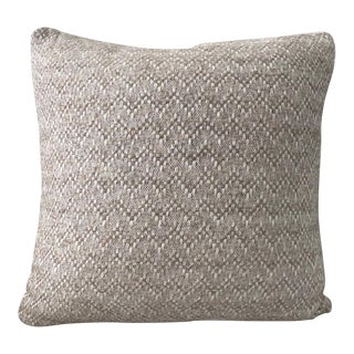 Pierre Frey Organic Wool, Alpaca, and Mohair Chevron Luxe Pillow in Taupe For Sale