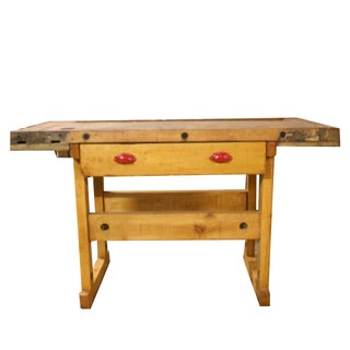 1945 Maple Wood Workbench For Sale