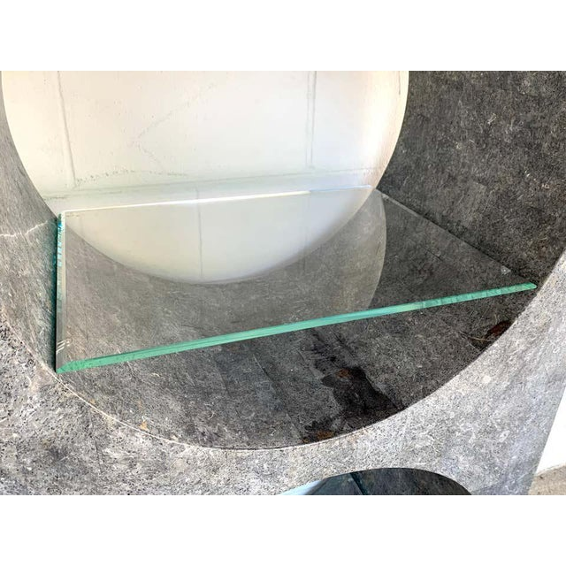 Modern Tessellated Stone Monolithic Bookcase / Vitrine For Sale In Atlanta - Image 6 of 13