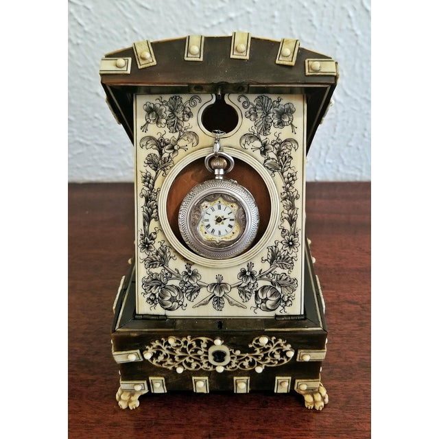 18th Century Anglo-Indian Vizigapatam Pocket Watch Display Box For Sale - Image 10 of 13