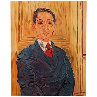 1954 Raoul Dufy, Vintage Portrait of M. Nico Mazaraki For Sale