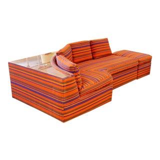 Mid Century Modern Sectional Sofa Ottoman Sectional Baughman Era - a Pair For Sale