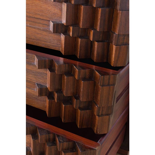 Wood Luciano Frigerio Chest of Drawers in Walnut For Sale - Image 7 of 12