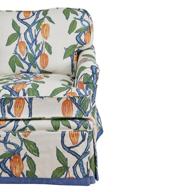 Contemporary 1990s Kavet Club Chairs in Ferrick Mason's Blue Orange Cacao - a Pair For Sale - Image 3 of 9