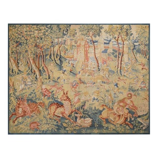 "Flemish Antique Tapestry ""Fantastic Animals"" For Sale"
