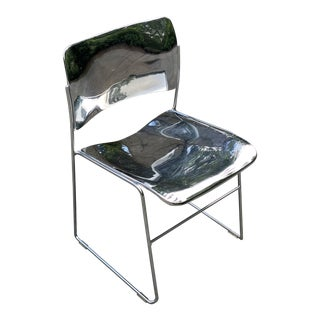 Vintage David Rowland Polished Chrome Chair For Sale