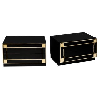 Mid-Century Modern French Lacquered Side Tables by Pierre Cardin For Sale