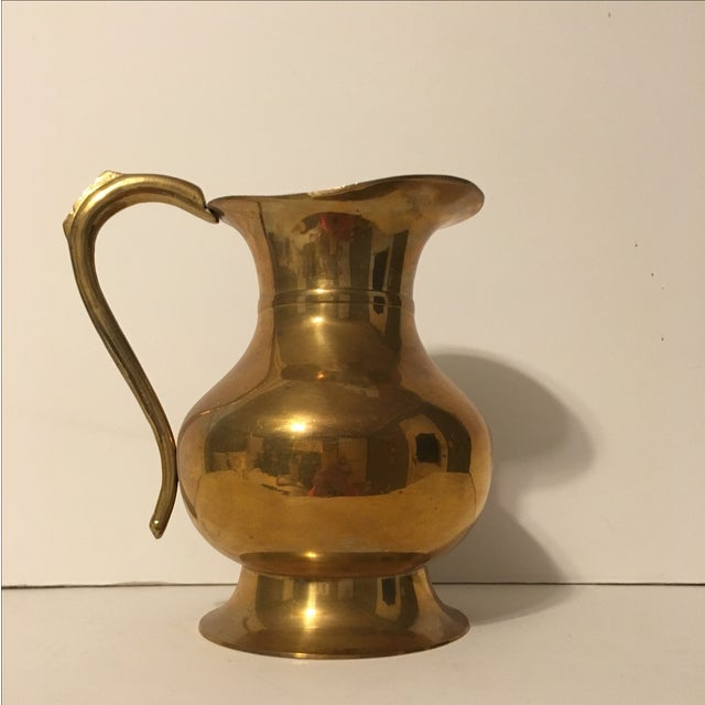 Large Brass Pitcher - Image 2 of 7