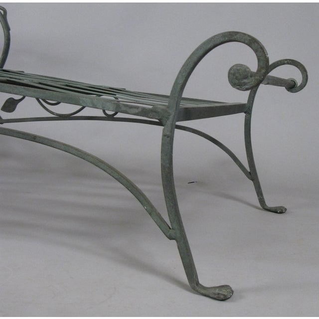 Metal Wrought Iron Chaise Lounges by Salterini, Circa 1950 - a Pair For Sale - Image 7 of 9