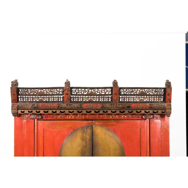 Painted Chinoiserie Armoire Ca. 1880 For Sale In New York - Image 6 of 10