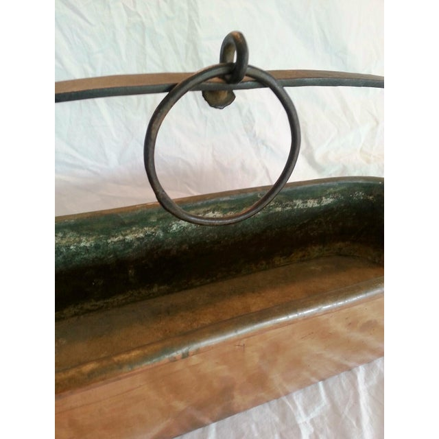 Vintage French Copper Hanging Planter - Image 8 of 8