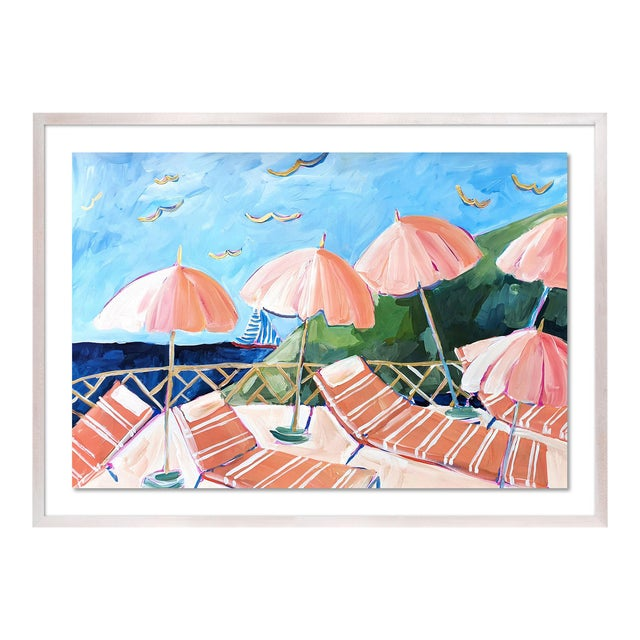 Cabana 7 by Lulu DK in White Wash Framed Paper, Small Art Print For Sale