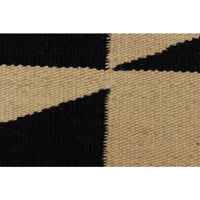 "2000 - 2009 Modern Kilim Armandin Ivory Hand-Woven Wool Rug -5'6"" X 8'2"" For Sale - Image 5 of 8"
