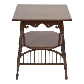 Victorian Oak Spindle Table For Sale