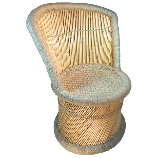 Attrayant Handmade Reed U0026 Jute Vintage Accent Chairs   A Pair   Image 4 ...