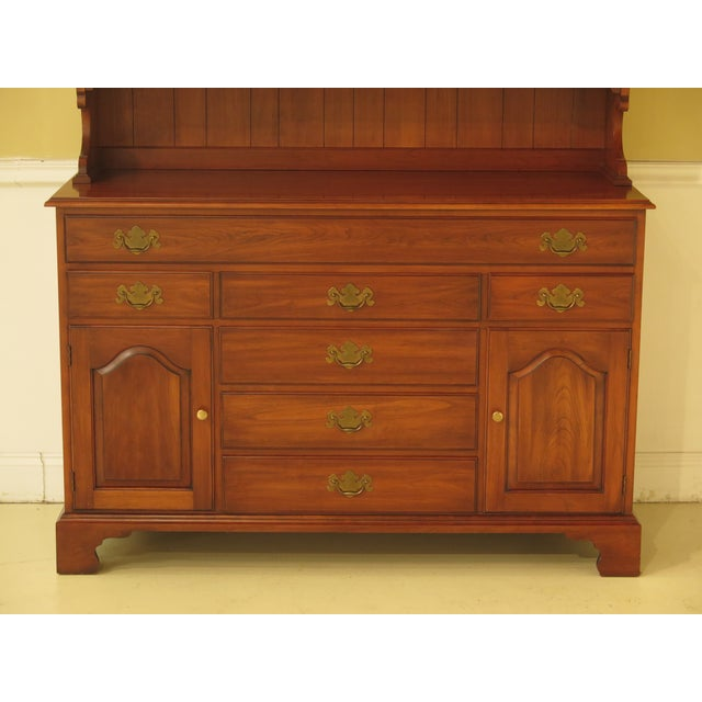 Traditional Henkel Harris Cherry 2-Piece China Hutch For Sale - Image 3 of 11