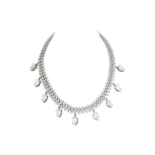 Red Carpet Crystal Drop Necklace For Sale - Image 9 of 10
