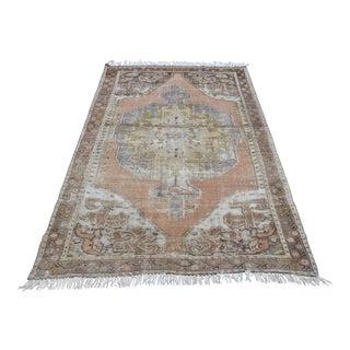 Oushak Antique Wool Rug - 4′2″ × 6′11″