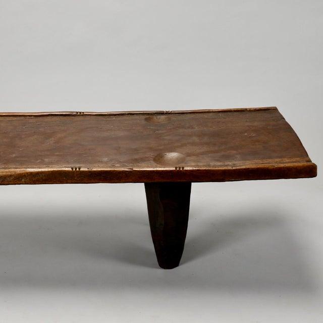 Ivory Coast Dark Wood Senufo Bench - Image 5 of 11