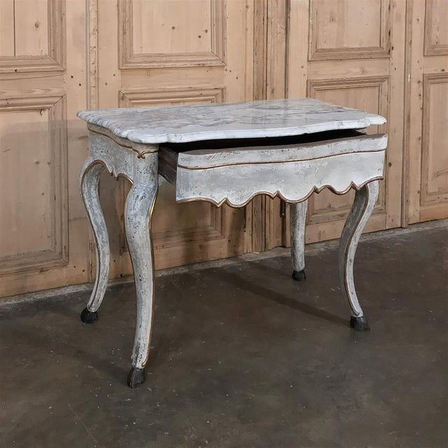 19th Century Swedish Painted Marble Top Console For Sale - Image 9 of 13