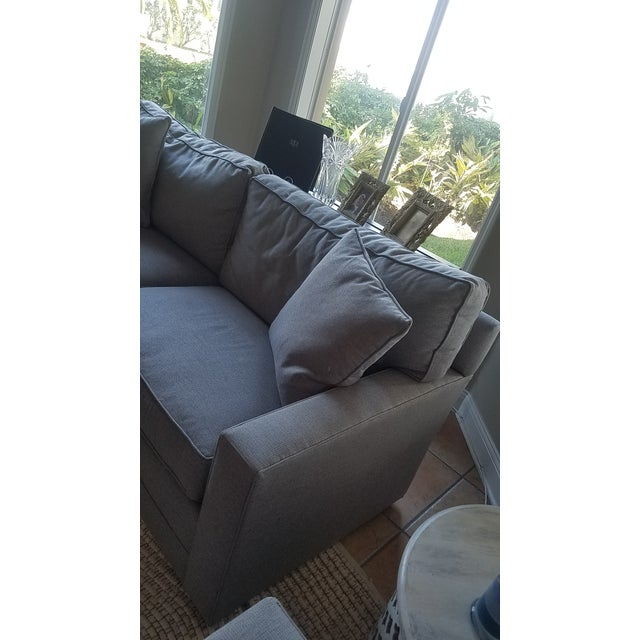 Lexington Bristol Grey Performance Fabric Loveseat & Couch Sofa - a Pair For Sale - Image 10 of 13