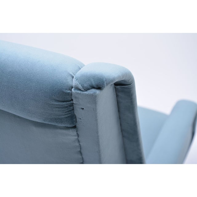 Italian Blue Armchair from ISA Bergamo, 1950s For Sale - Image 9 of 10