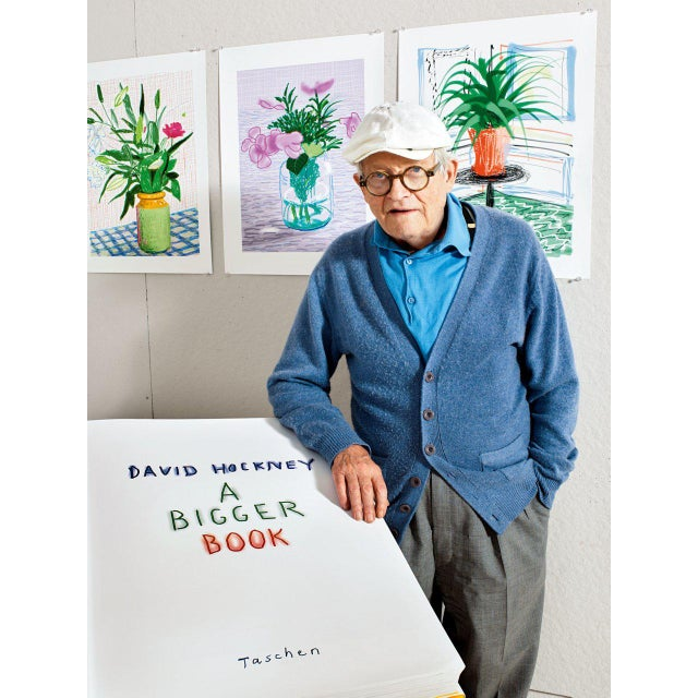 """Not Yet Made - Made To Order Autographed David Hockney """"A Bigger Book"""" Painting Collection with Book Stand Collector's Edition For Sale - Image 5 of 13"""