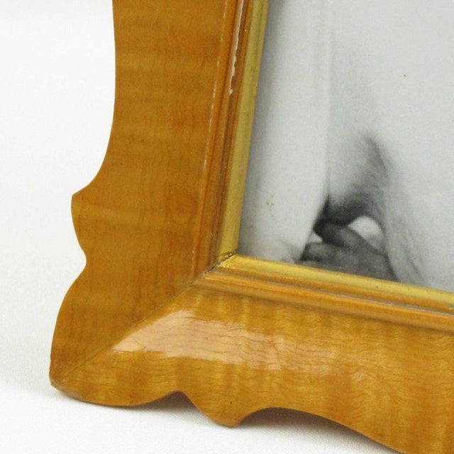 Italian Sycamore Hollywood Regency Picture Photo Frame Signed For Sale - Image 4 of 8