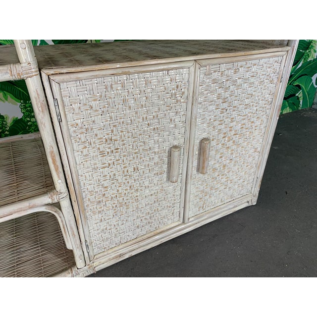 Vintage Rattan Chinoiserie Etagere For Sale - Image 6 of 8