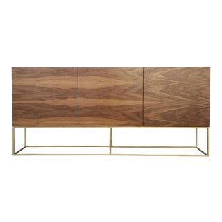 Walnut & Gold Base Credenza