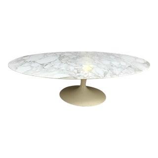 Eero Saarinen Knoll Oval Carrara Marble Tulip Coffee Table For Sale