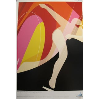 Vintage Original Olympic Poster, Torino 2006, Speed Skating For Sale