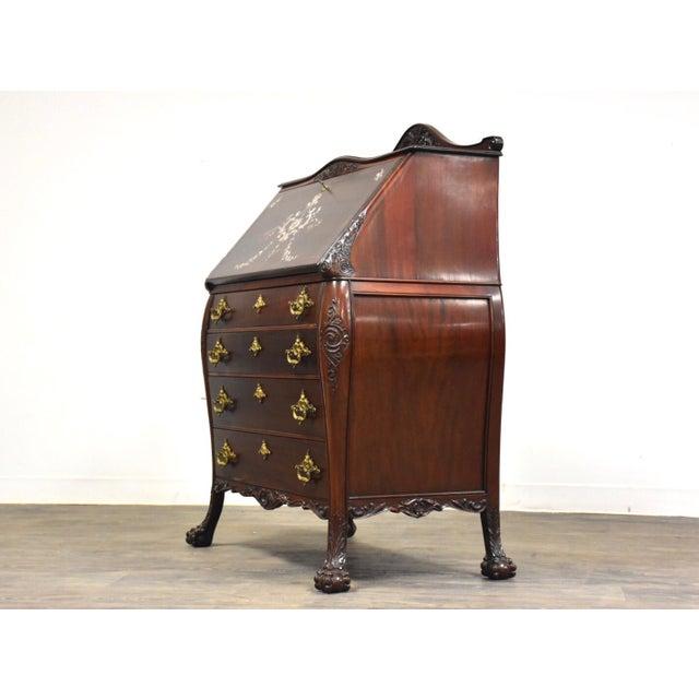R. J. Horner & Co. r.j. Horner Mahogany Secretary Desk For Sale - Image 4 of 12