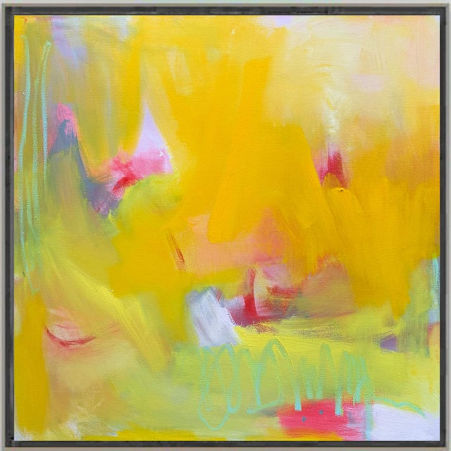 """2010s """"West Wind"""" by Trixie Pitts Abstract Expressionist Oil Painting For Sale - Image 5 of 13"""